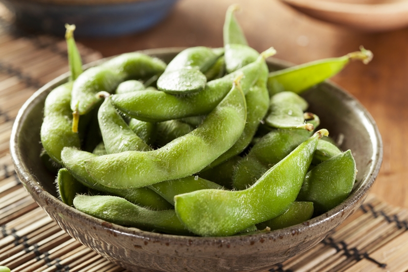 Sprinkle sea salt over your pods to bring out edamame's flavor.